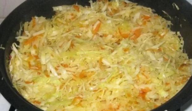 Жарка капусты на сковороде