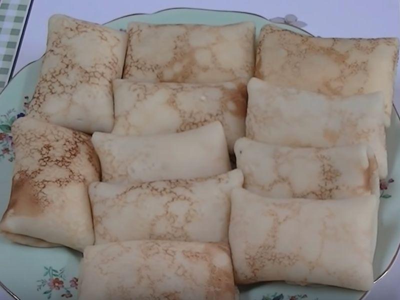 Сладкие блинчики с творогом - рецепт пошаговый с фото