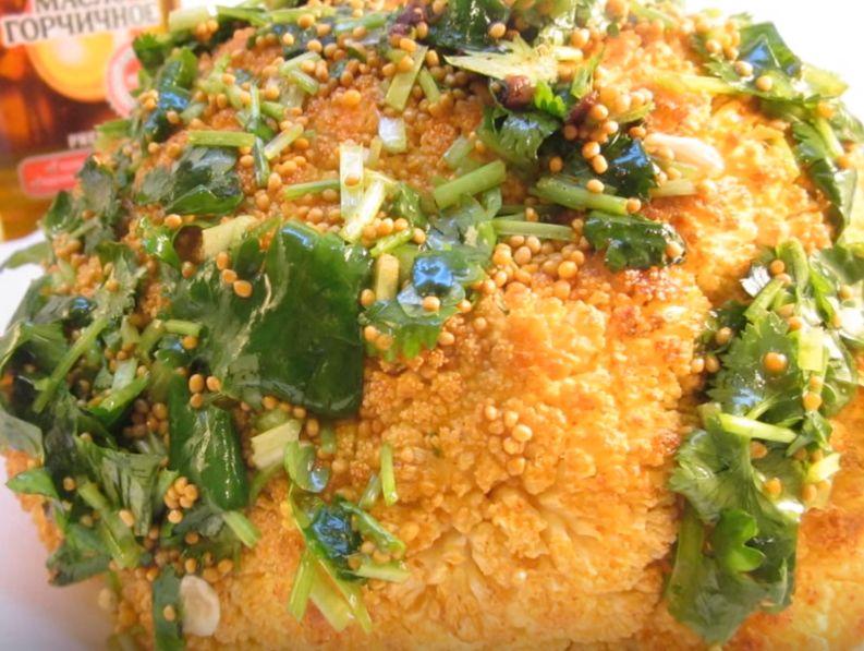 Как запечь цветную капусту в духовке