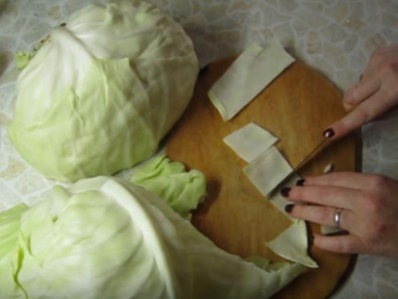 Капуста крупными кусками быстрого приготовления с уксусом