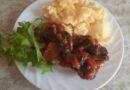 Баклажаны тушёные с мясом и овощами