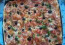 Домашняя пицца на тонком тесте в духовке