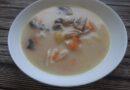 Суп с шампиньонами, картофелем и плавленым сыром